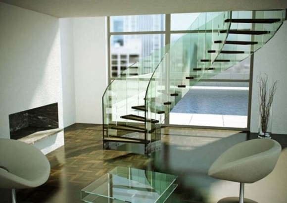 modern glass staircase designs