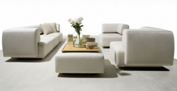 modern leather sofa decor