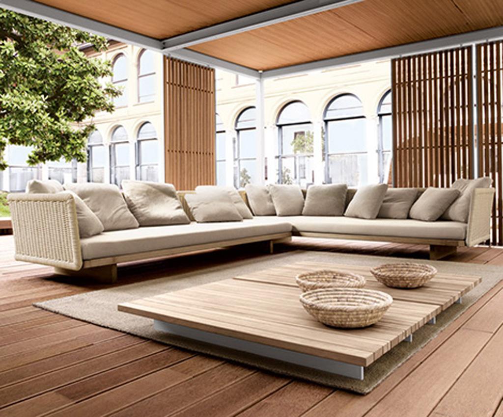 Modern sectional sofa designs for Outdoor living patio furniture