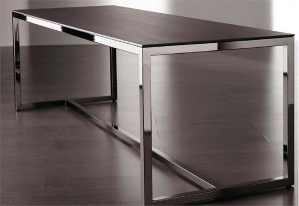 Modern table furniture design for Steel dining table design