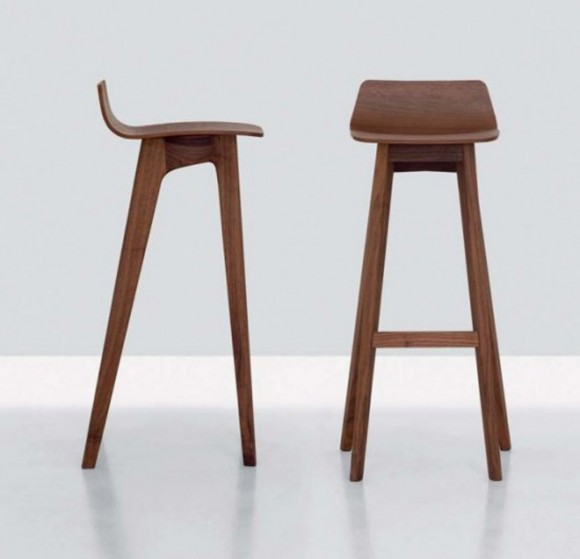 Modern Wood Bar Stools ~ The morph modern contemporary wooden bar stool designs