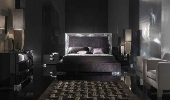 mysterious black bed room furniture