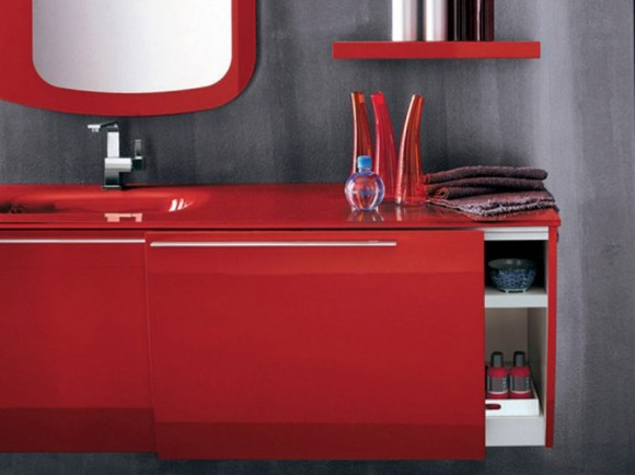 red bathroom furniture decor ideas