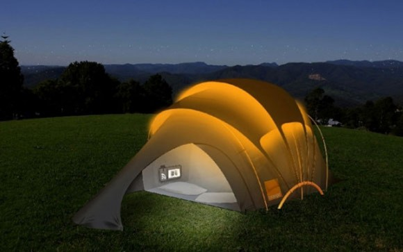 solar energy saver tent idea