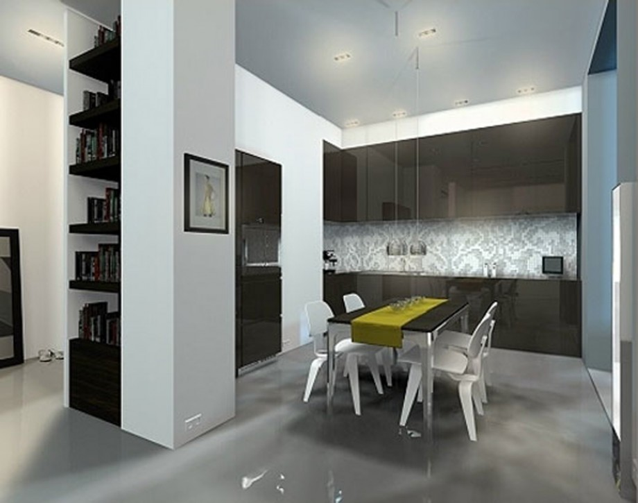 space saving kitchen designs. Black Bedroom Furniture Sets. Home Design Ideas