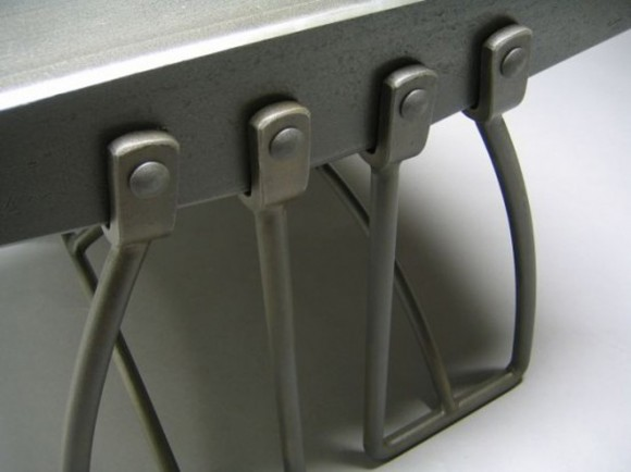 strong metal construction table