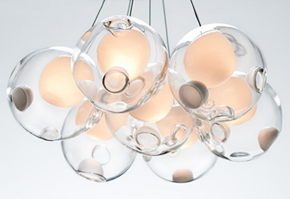 transparent glass pendant decor