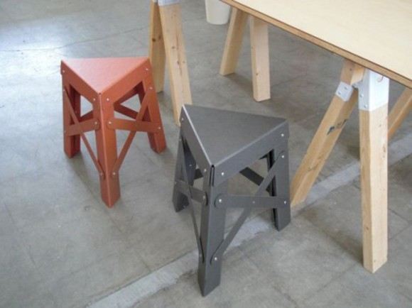 triangle stool design idea