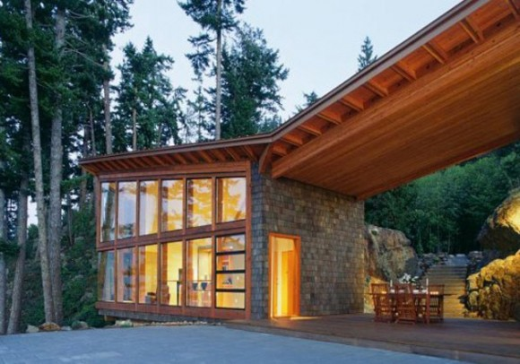 unique timber house constrcution