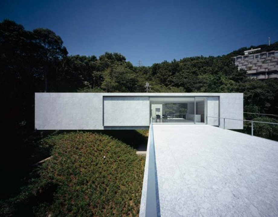 unique white concrete house design