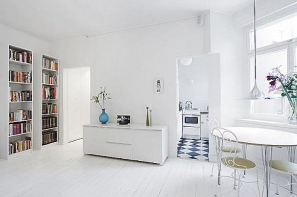 white functional space idea