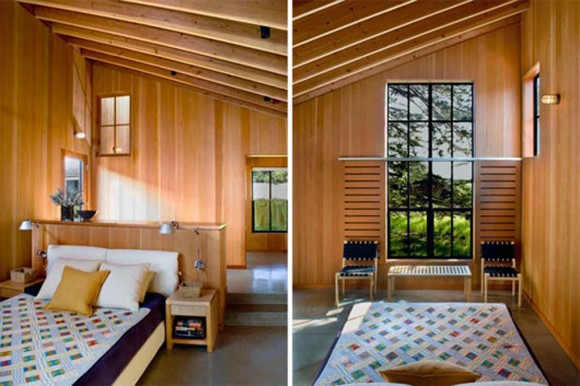 wooden bed room decorating idea