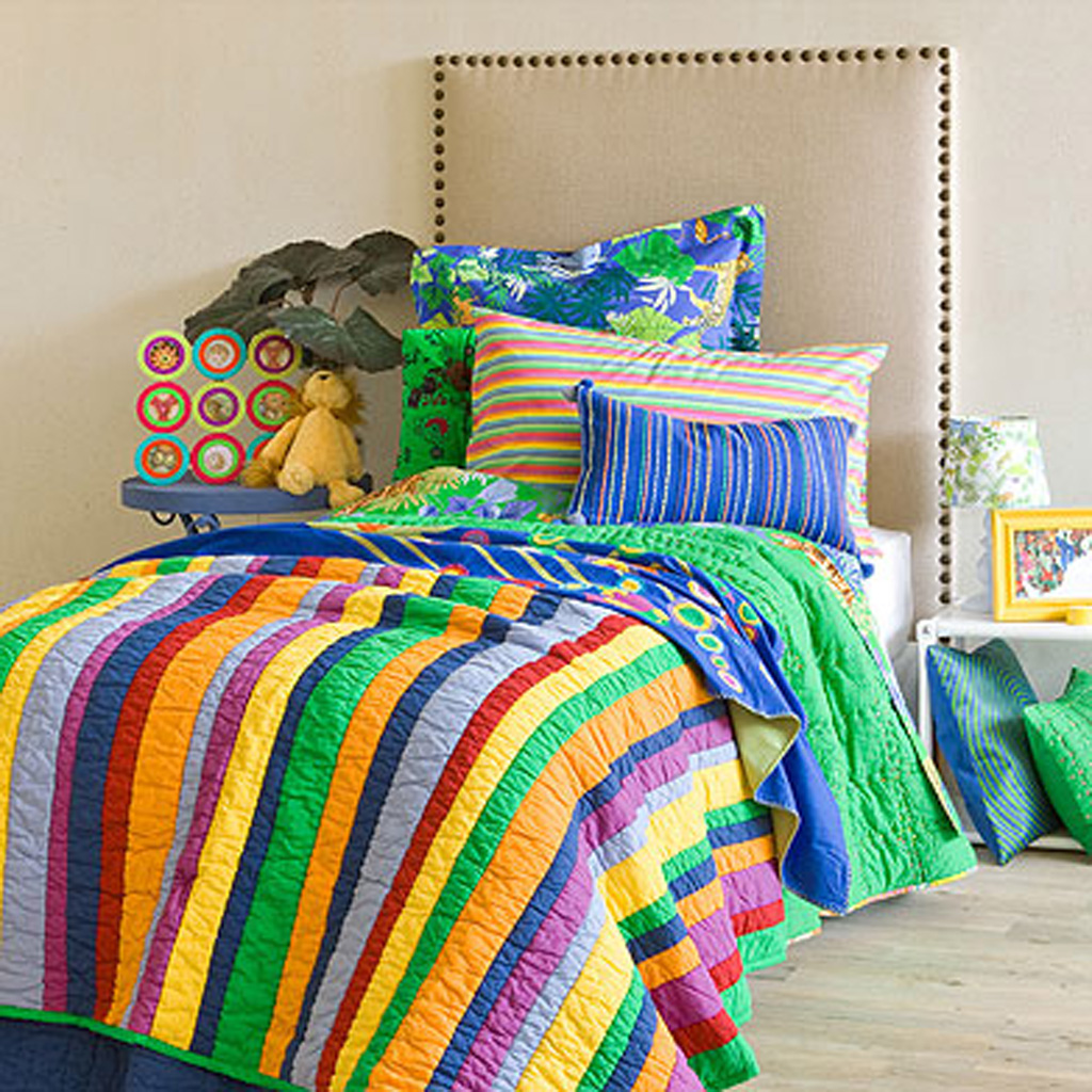 decorative colorful kids bedding designs from zara home