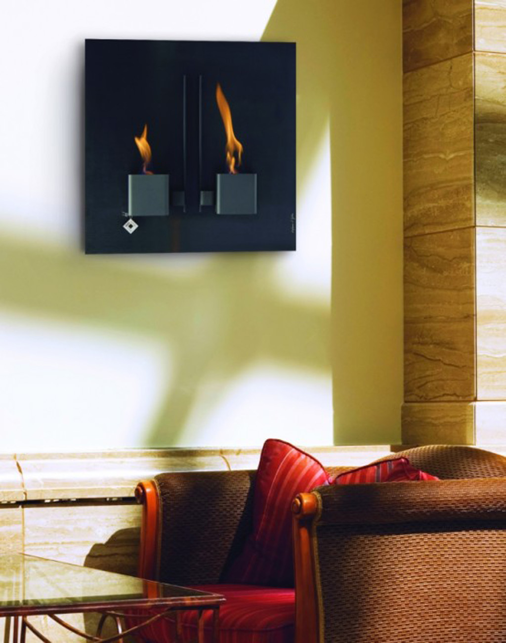modern contemporary wall fireplace designs by aktys