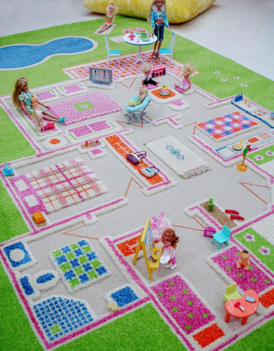 barbie kids rug decor