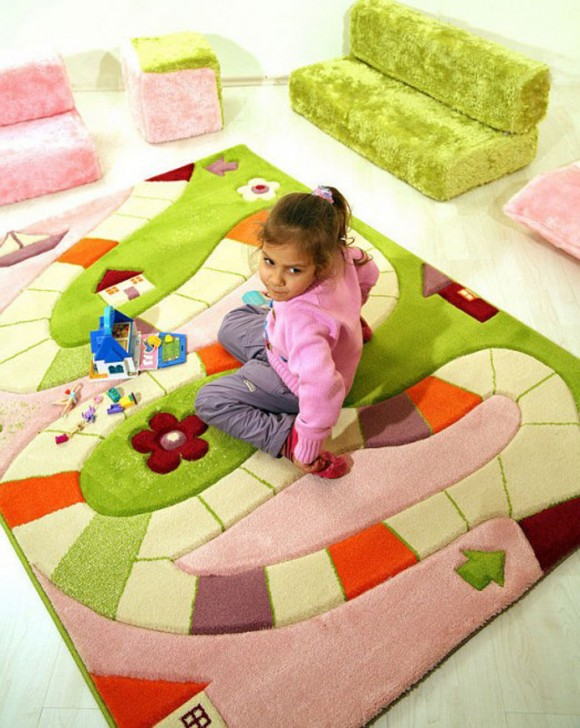 cheerful rug for kids designs