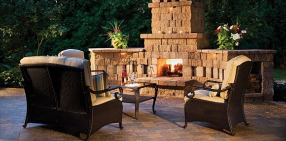 classic outdoor fireplaces designs