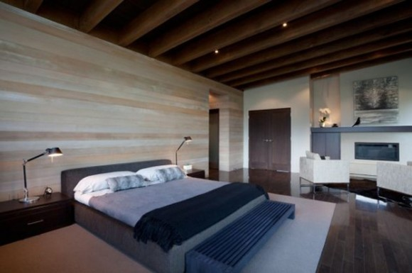 contemporary bed room decorating idea