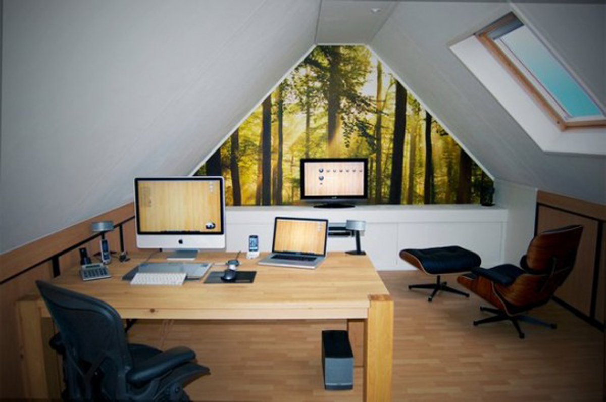 Modern loft workspace decor - Small work space decor ...
