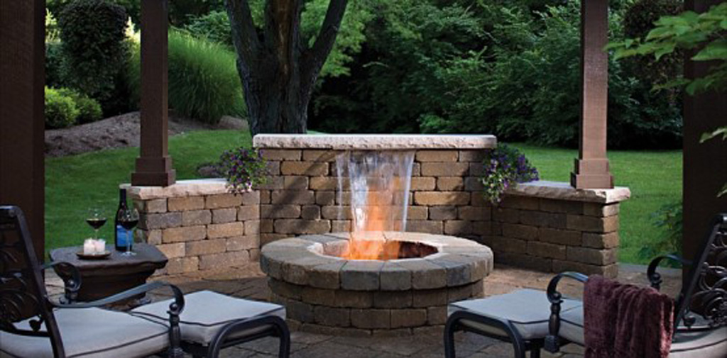 Outdoor stone fireplace designs for Patio fireplace plans