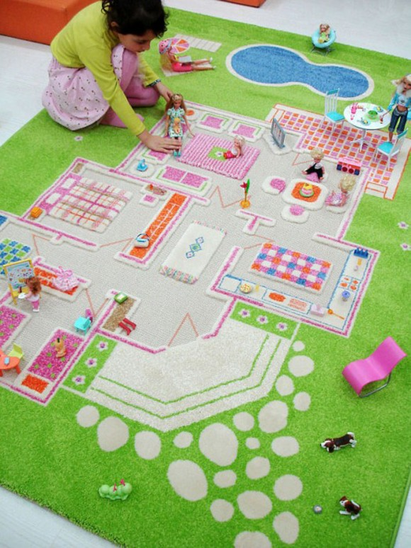 pink kid educational rug photos