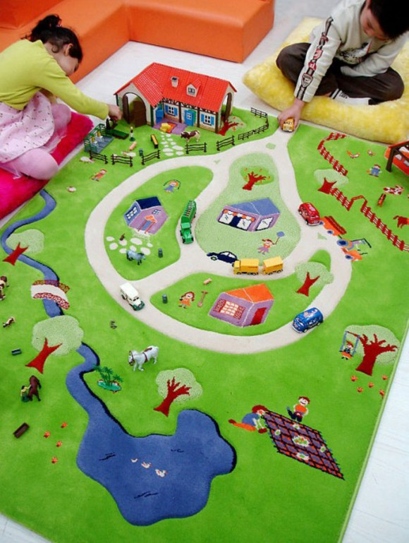 play kids area rug plans