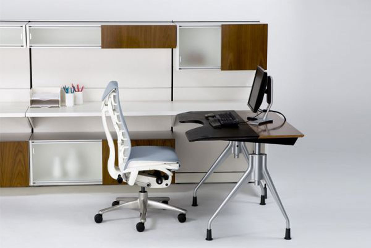 Simple house office decorating ideas for Simple office furniture design