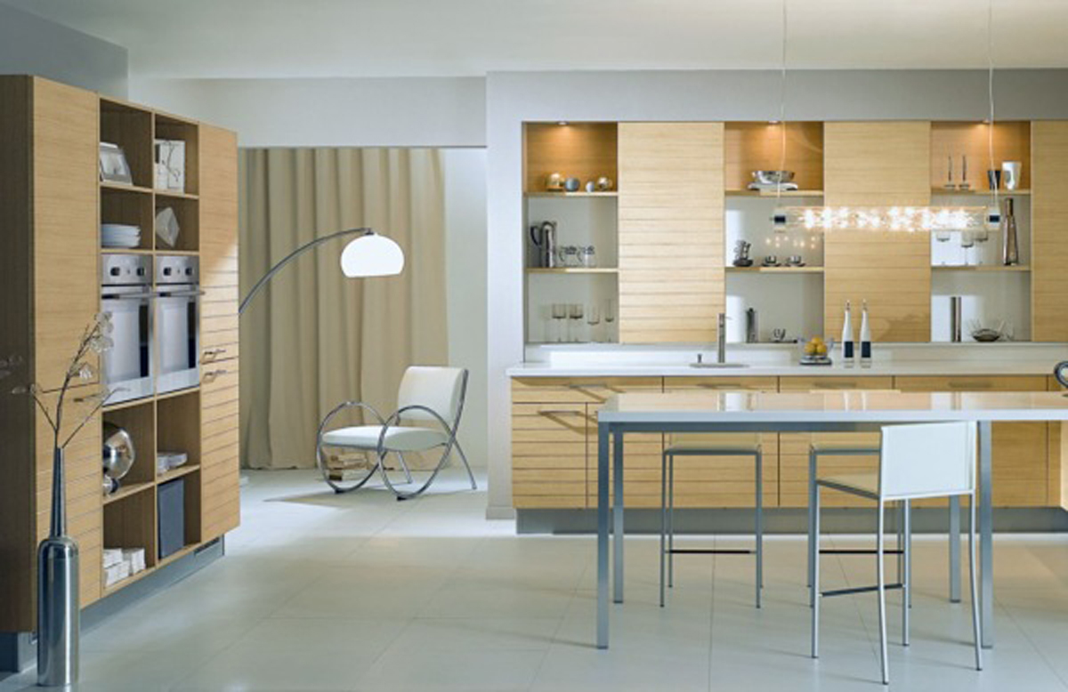 Simple modern kitchen decorating ideas for Small contemporary kitchen designs