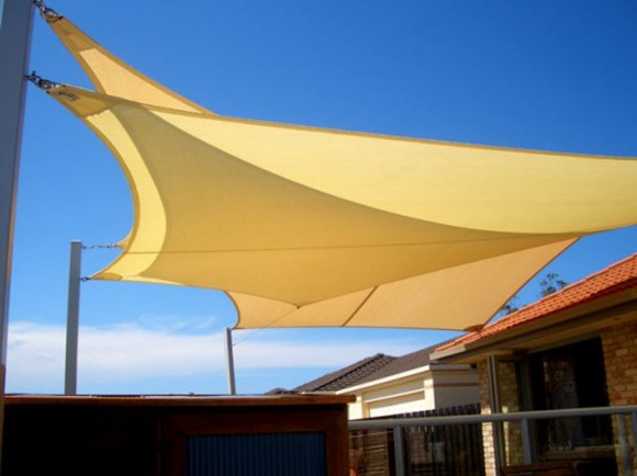 simple shade sail installation
