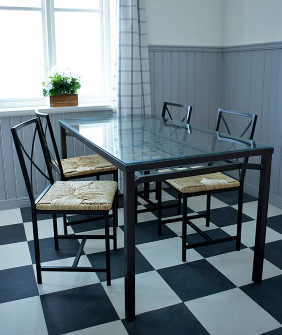 glass dining room table one of 6 total pictures 2010 ikea dining room