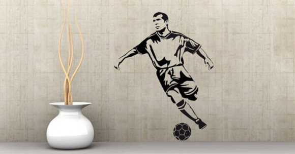 artistic football wall decal ideas