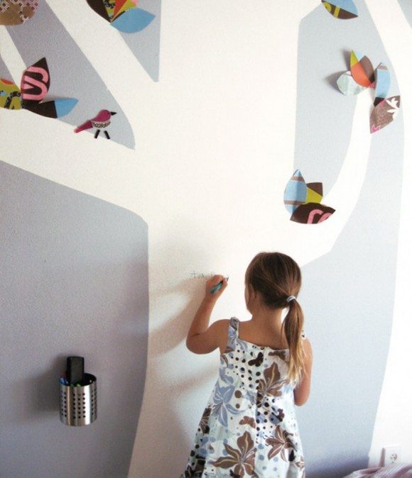 attractive kids wall decoration plans