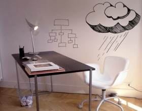 black and white wall color decal