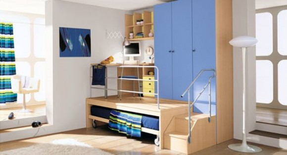 blue scheme boys bedroom decor