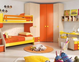 cheerful twins kids bedroom decorating ideas