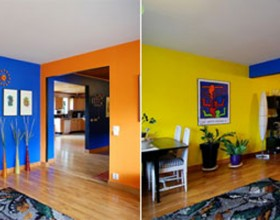 colorful house interior decoration plans