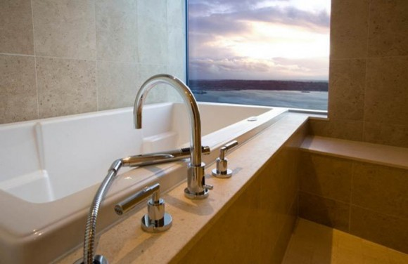 contemporary pent house bathtub ideas