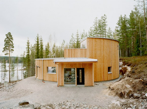 contemporary wooden house layouts