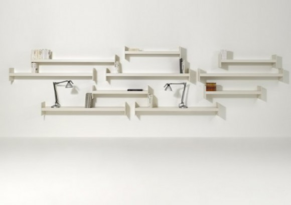 Stylish Contemporary Wooden Shelf Designs by Performa - Iroonie.com