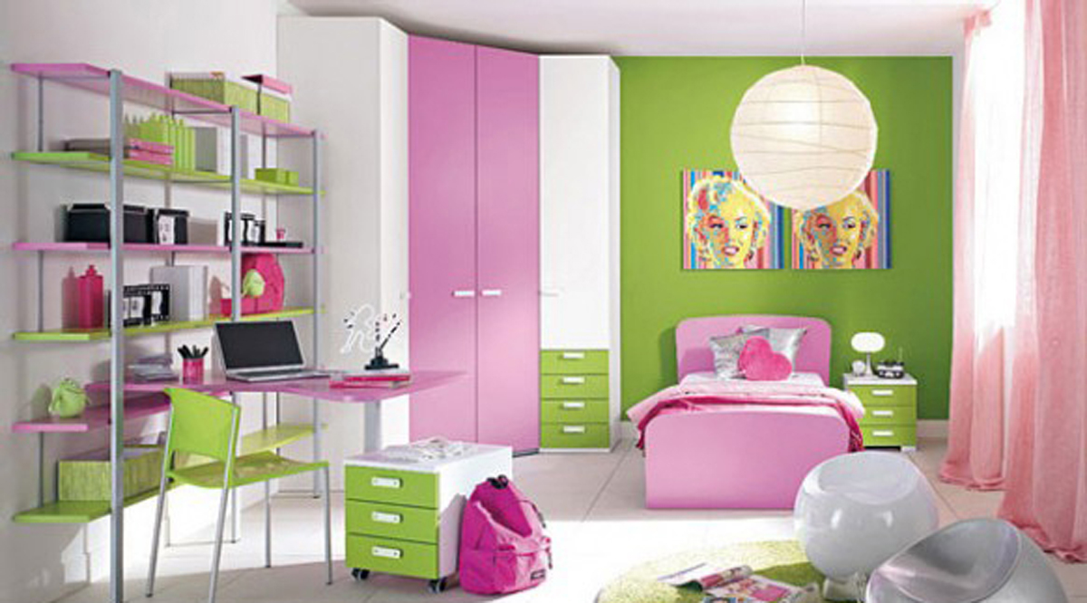 Pink And Green Painted Rooms