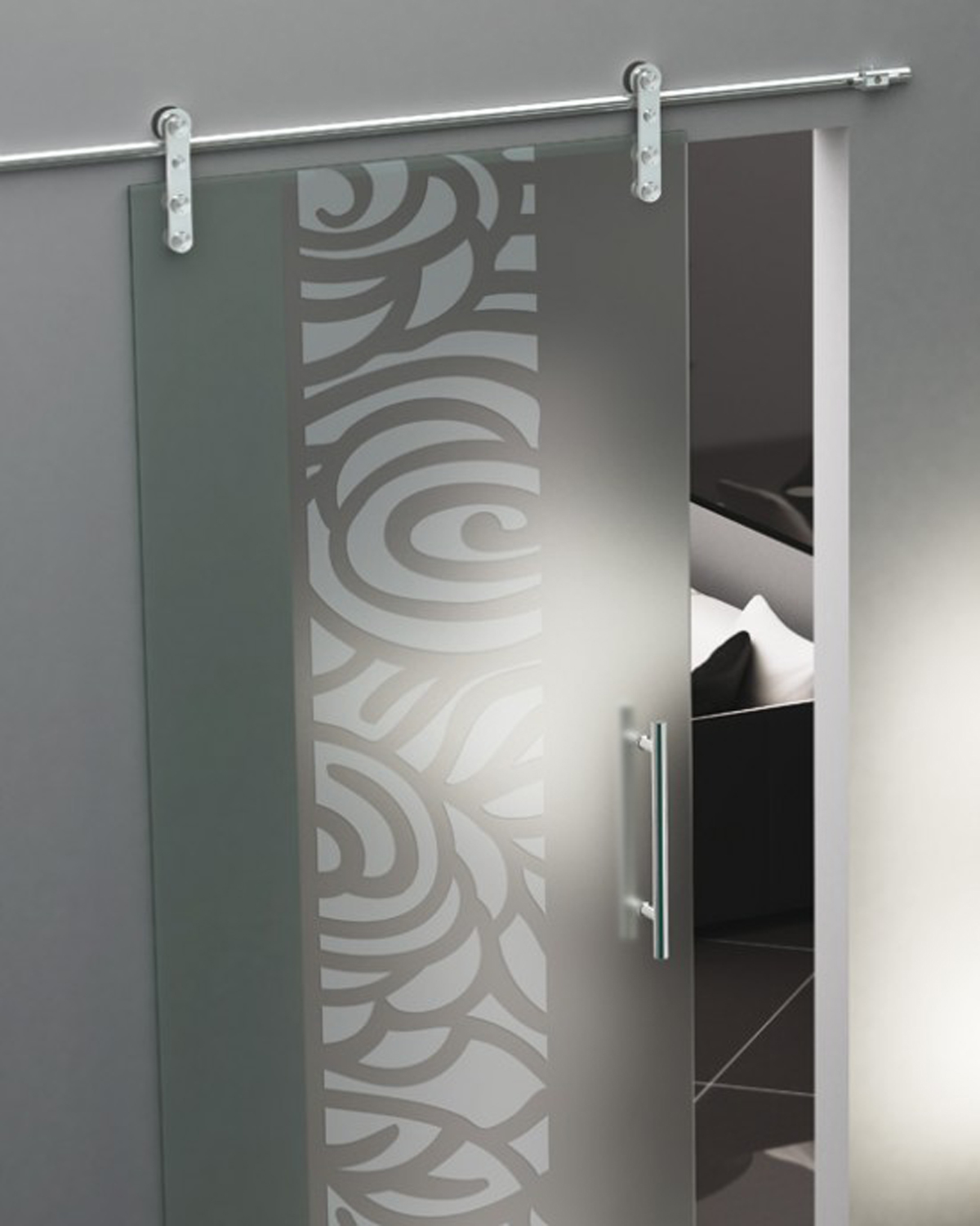 Decorative glass door design idea for Door design accessories