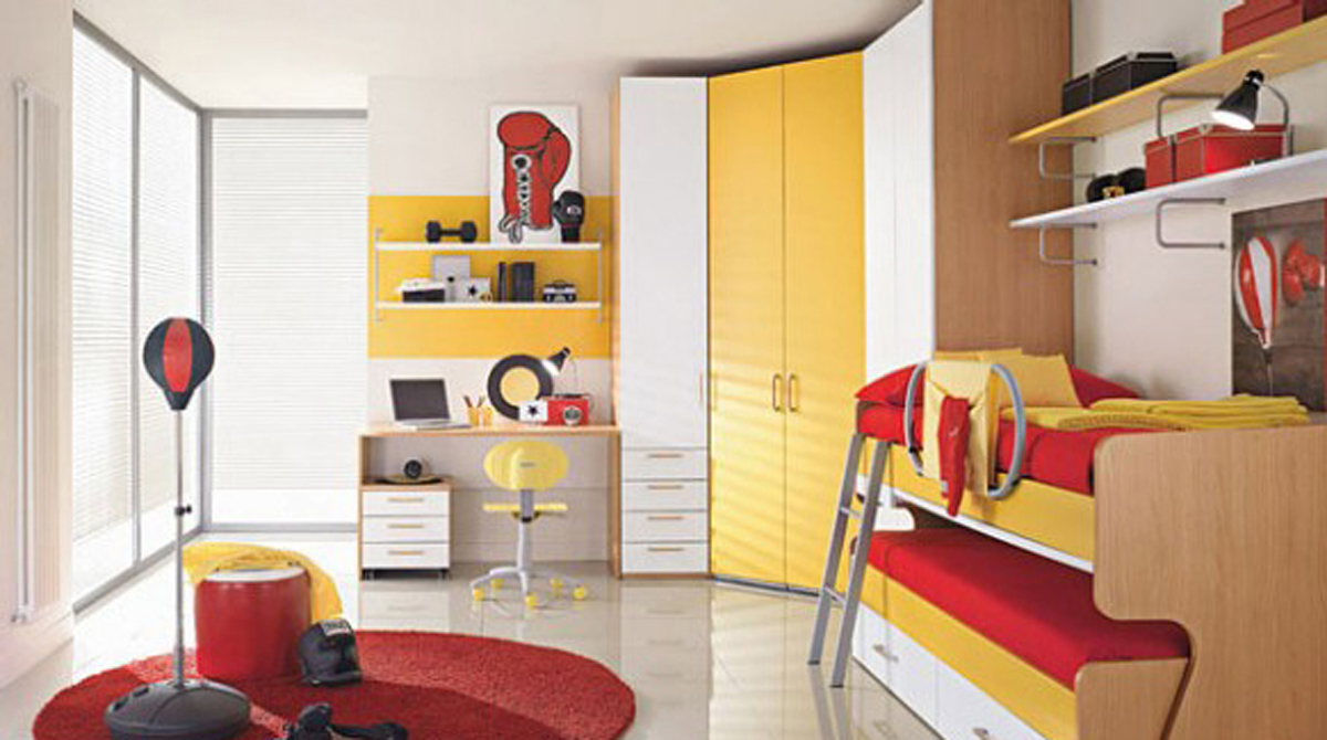 Decorative twins kids bedroom decor for Room decor for kids