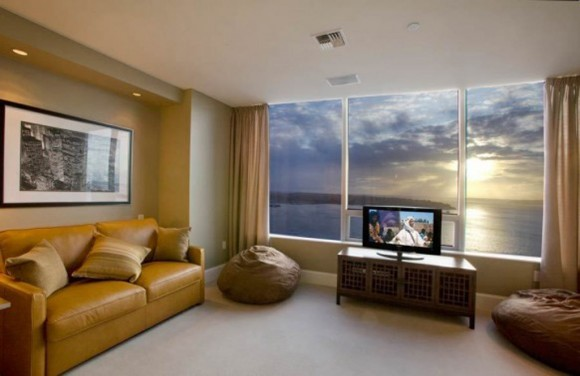 luxury pent house living room decor