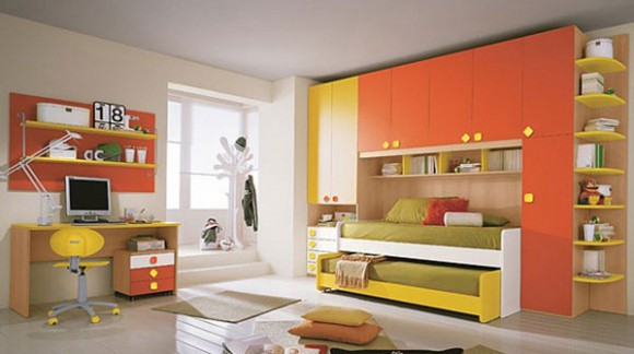 modern bedroom for twins kids
