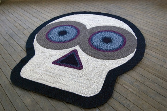 modern head character rug design ideas