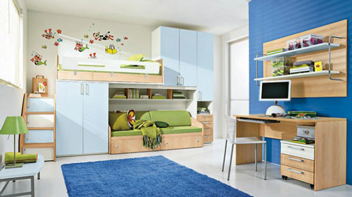 Kids room decorating ideas one of 6 total pictures modern - Toddler bed decorating ideas ...