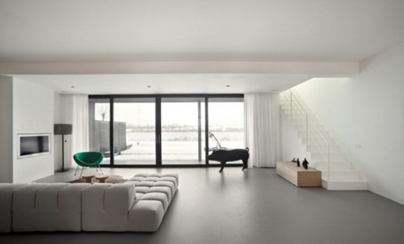 Over View Urban House Living Room Design