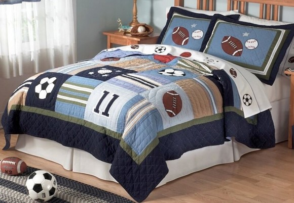 sport kids bedding and decorations