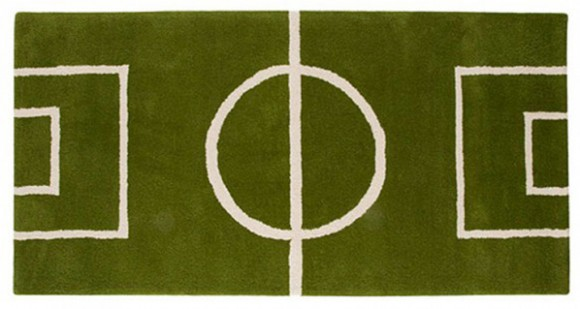 sporty football rug designs