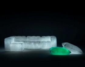 unique glowing sofa set decor